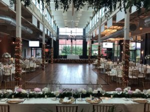 magical summer wedding reception